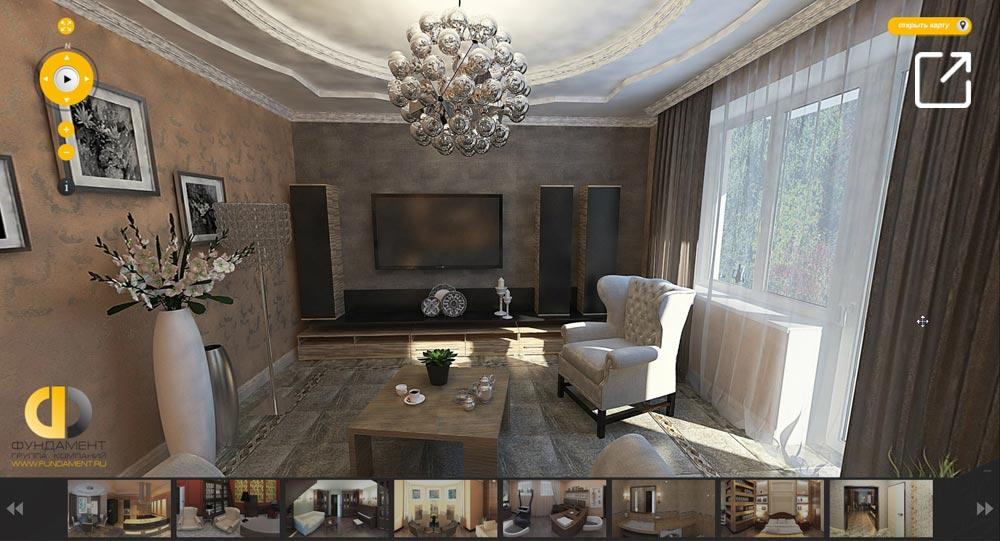 Дизайн интерьера частного дома в классическом стиле в 3d – Н.Аристово