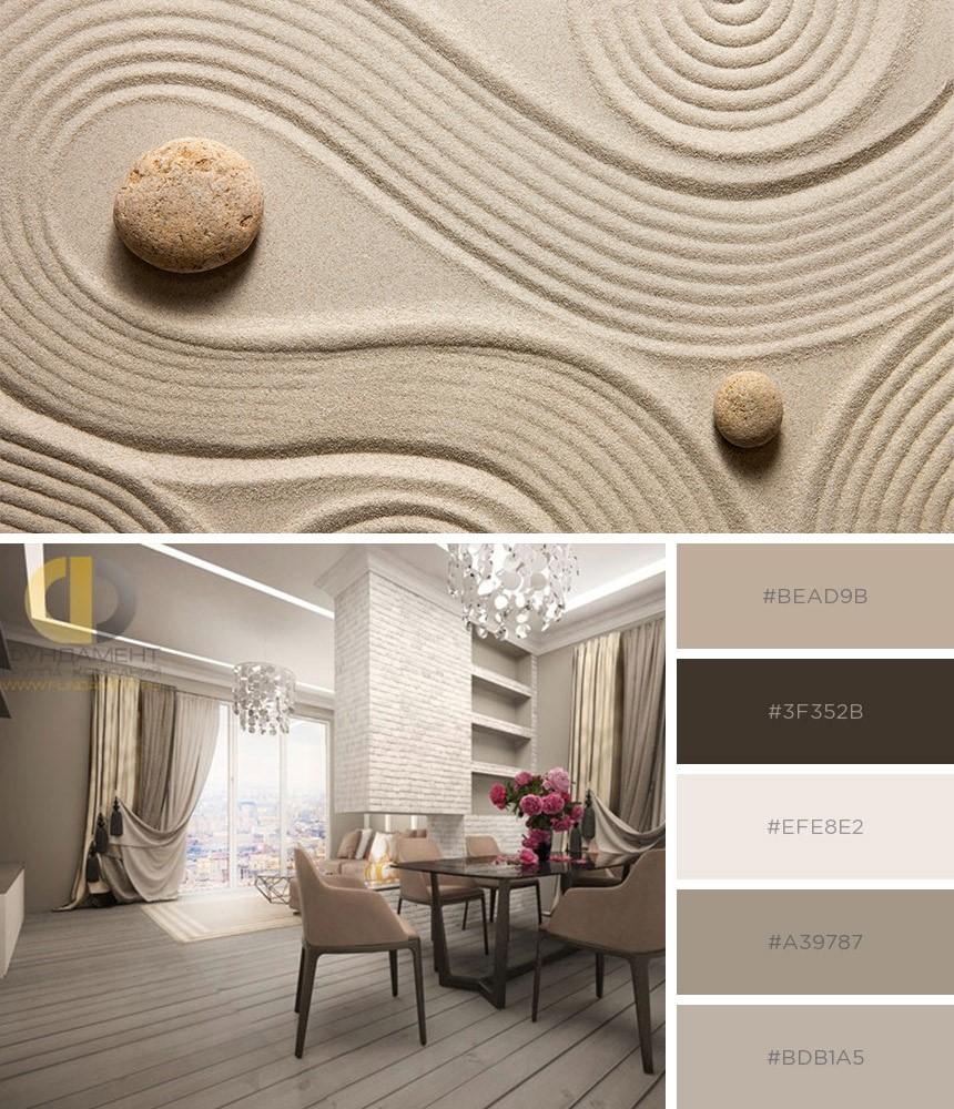 Интерьер квартир в стильной песочной гамме