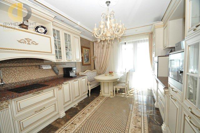 Ремонт кухни в четырехкомнатной квартире