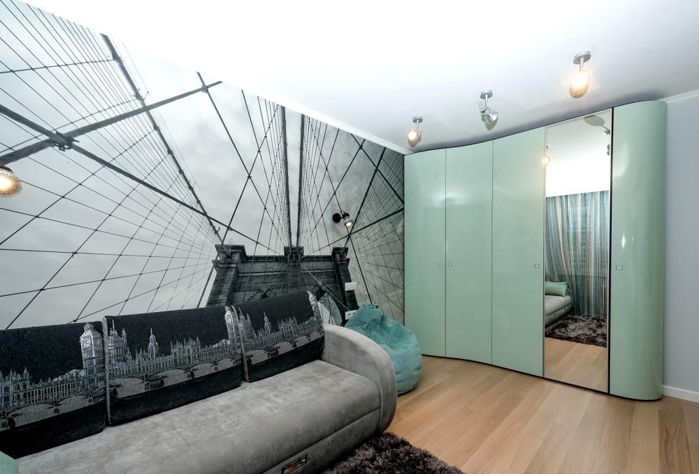 Дизайн интерьера комнаты в современном стиле. Фото 2017