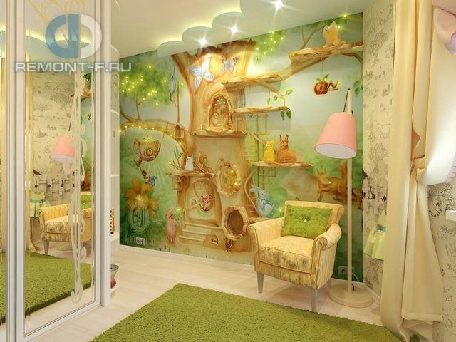 Дизайн интерьера детской комнаты в современном стиле. Фото 2017