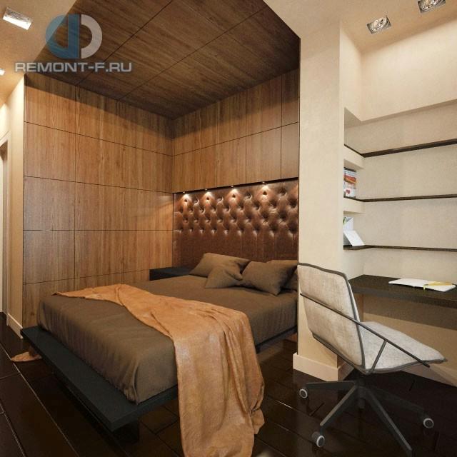 Дизайн современной спальни в 3-комнатной квартире в Реутове
