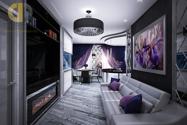 Красивые квартиры. Фото интерьера гостиной в Олимпийской деревне