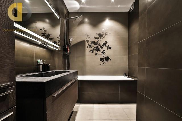 Дизайн интерьера ванной комнаты в современном стиле. Фото 2017
