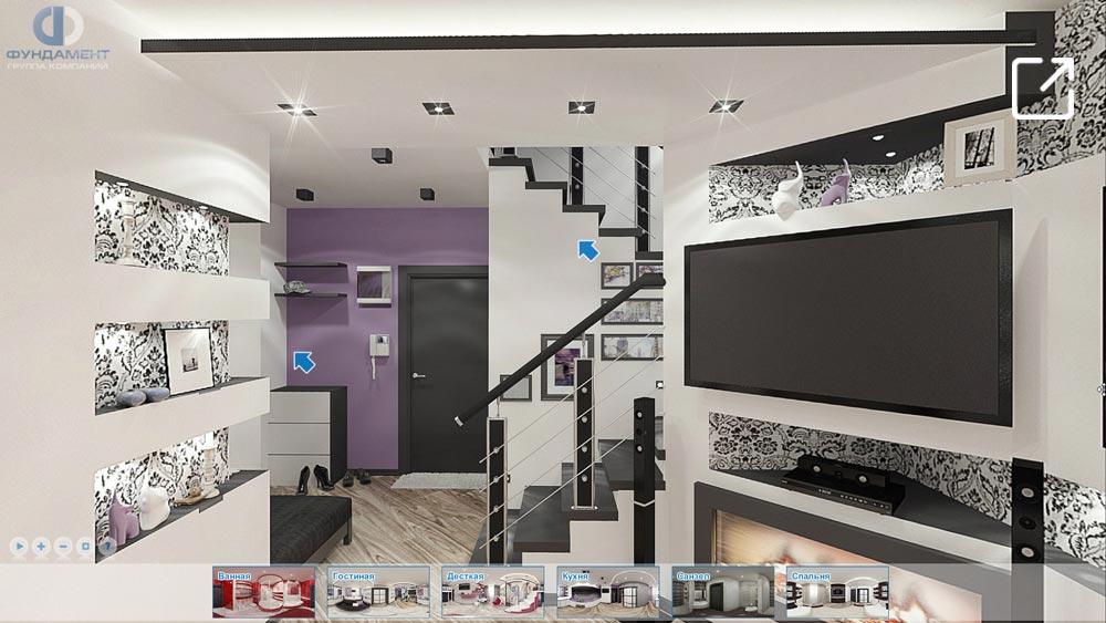 Современный дизайн интерьера дома в 3d – Воскресенское