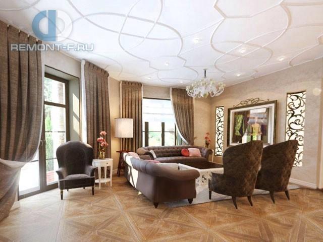 Современные идеи дизайна гостиной. Фото квартиры на Долгоруковской