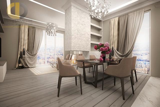 Трехкомнатная квартира в современном стиле в Мытищах