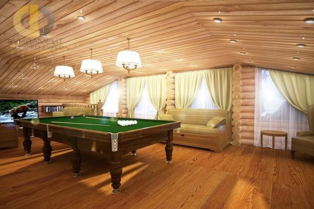 Красивый дом из оцилиндрованного бревна в пос. Никольские озера. Фото внутри