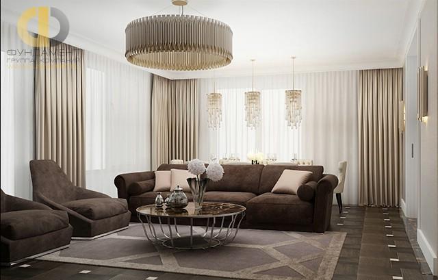 Красивые квартиры. Фото интерьера гоcтиной вЛюсиновскомпереулке