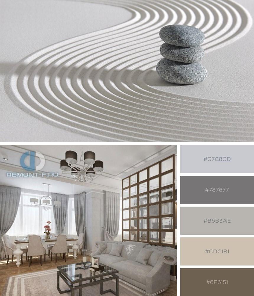 Серый цвет в дизайне квартир