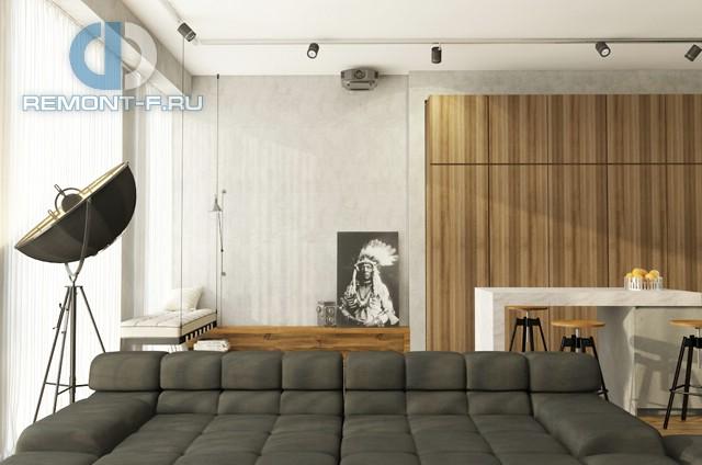 Современные идеи дизайна гостиной. Фото квартиры на Мосфильмовской