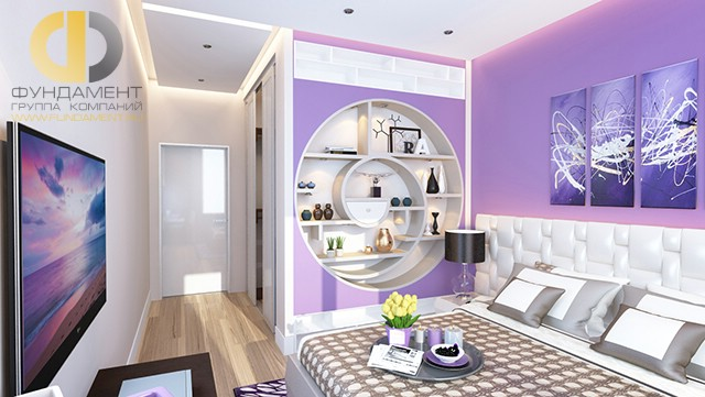 Дизайн спальни 12 кв. м в современном стиле. Фото декора