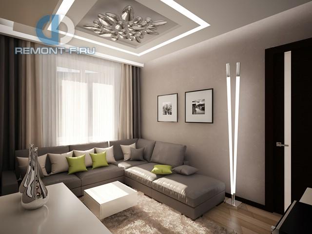 Дизайн двухкомнатной квартиры в стиле минимализм на ул. Алабяна