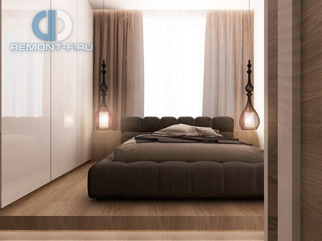 Дизайн спальни в четырехкомнатной квартире в ЖК «Авеню 77»