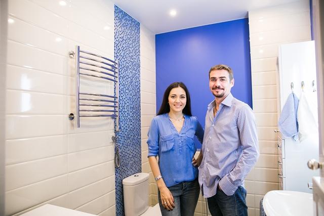 Денис и Ирина в квартире после ремонта