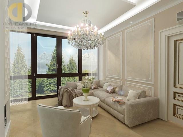 Красивые квартиры. Фото интерьера гостиной в Новогорске