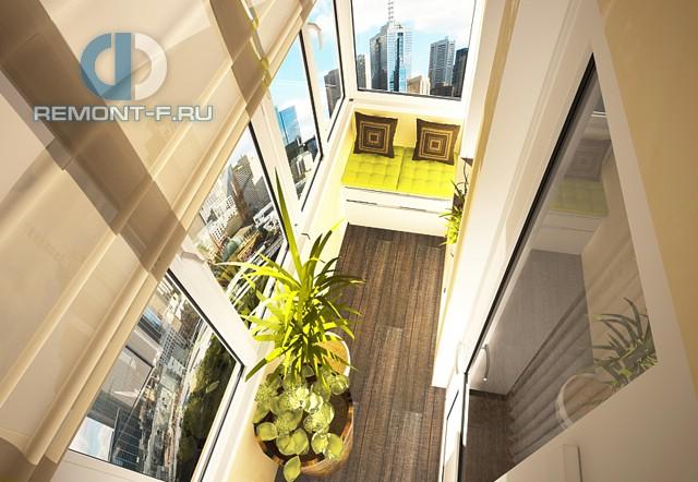 Утепленный балкон в современном стиле