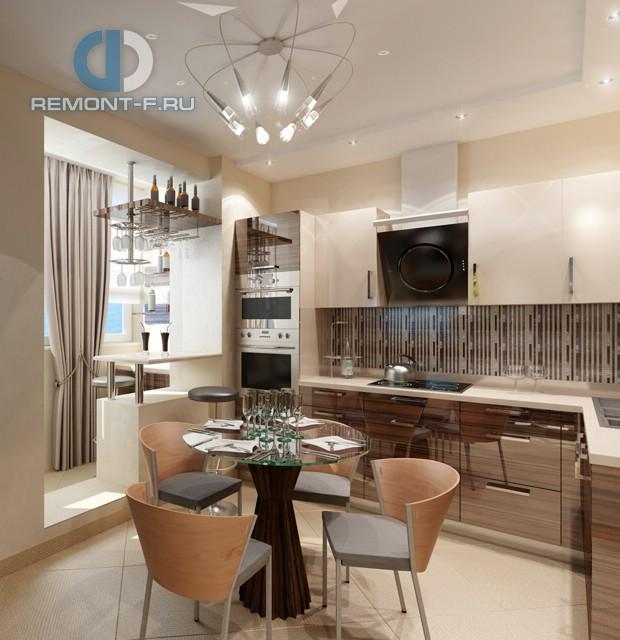 Дизайн кухни 10 кв. м, совмещенной с лоджией. Фото новинок 2016
