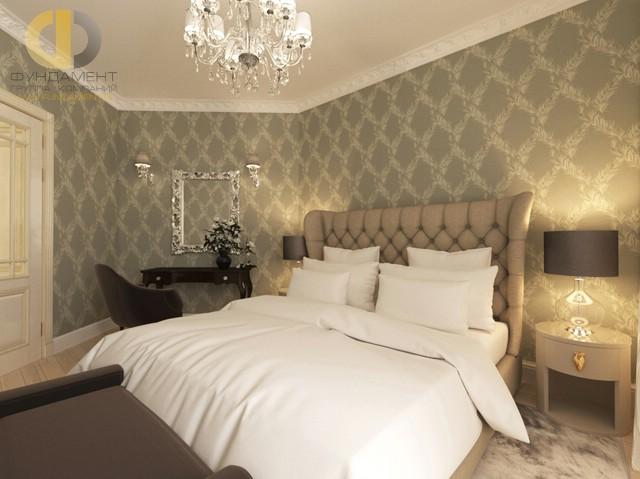 Дизайн спальни 15 кв. м. Фото и планировка интерьера с туалетным столиком