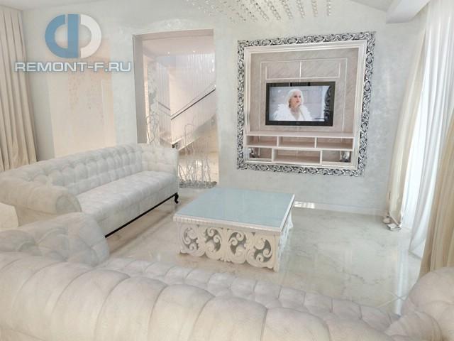 Дизайн гостиной в стиле арт-деко. Фото дома
