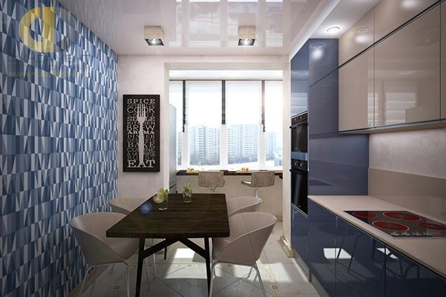 Дизайн кухни 10 кв. м с обоями. Фото новинок 2016