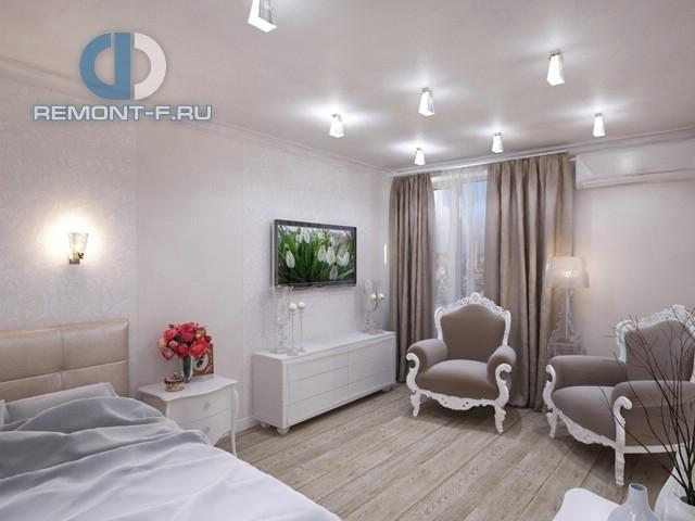Дизайн однокомнатной квартиры 40 кв. м. Фото интерьера