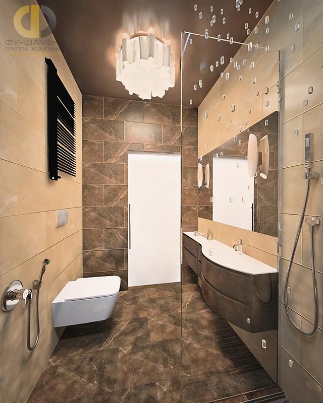 Отделка ванной комнаты плиткой: фото. Дизайн ванной с душевой кабиной