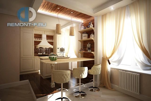 Дизайн кухни 10 кв. м на подиуме. Фото новинок 2016