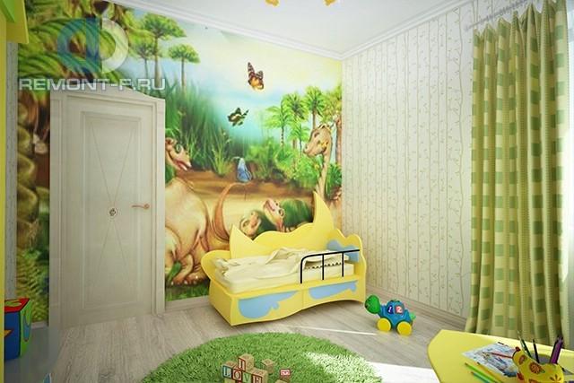 Дизайн детской для мальчика 1-4 лет: фото 2017