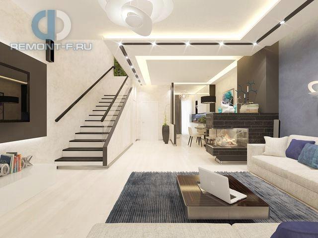 Дизайн кухни-гостиной открытой планировки