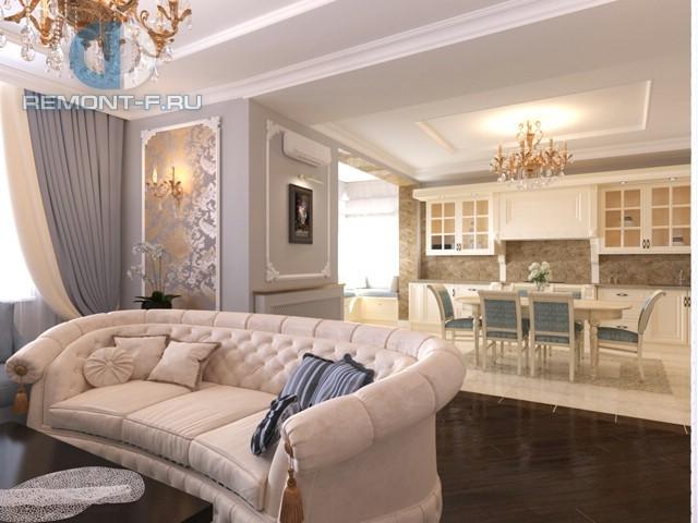 Дизайн 3-комнатной квартиры в стиле неоклассика на ул. Мосфильмовской