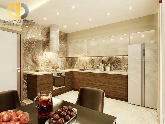 Интерьер кухни в 2-комнатной квартире на Мосфильмовской