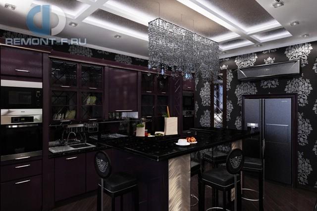 Дизайн кухни 10 кв. м в стиле арт-деко. Фото новинок 2016