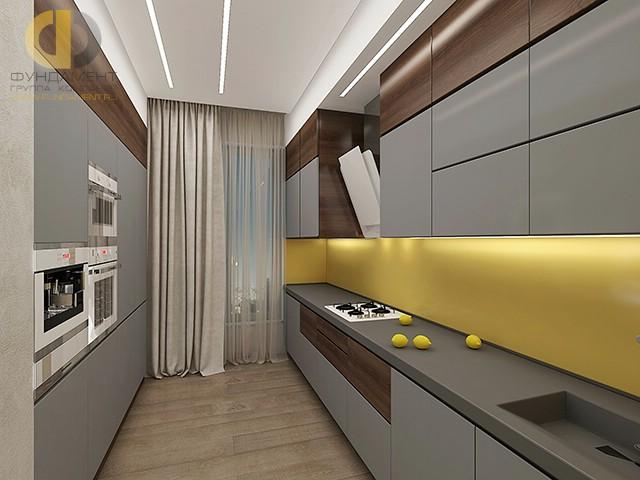 Дизайн кухни 9 кв. м с параллельной планировкой. Фото интерьера 2016