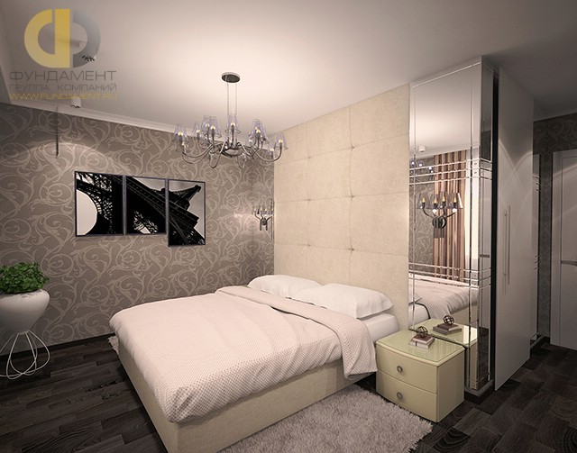 Дизайн спальни 12 кв. м в современном стиле. Фото интерьера