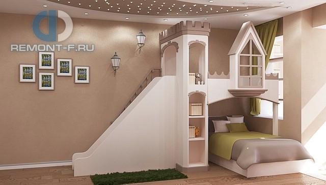 Оригинальный дизайн детской комнаты 4-комнатной квартиры на ул. Вавилова