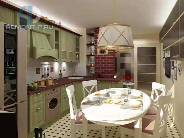 Дизайн кухни 10 кв. м в стиле прованс. Фото новинок 2016