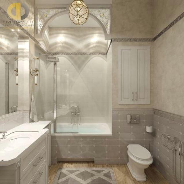 Отделка ванной комнаты плиткой: фото. Дизайн ванной с витражом
