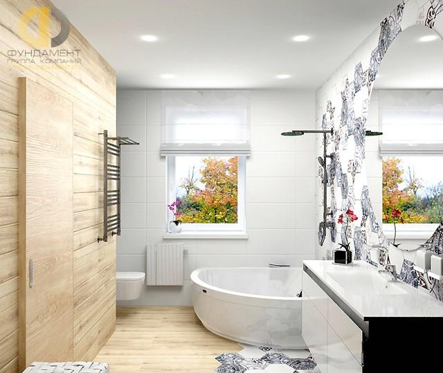 Отделка ванной комнаты плиткой: фото. Дизайн санузла с угловой ванной