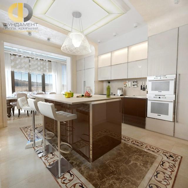 Кухня с современной планировкой