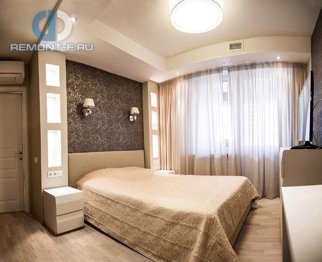 Ремонт спальни в бежевых тонах