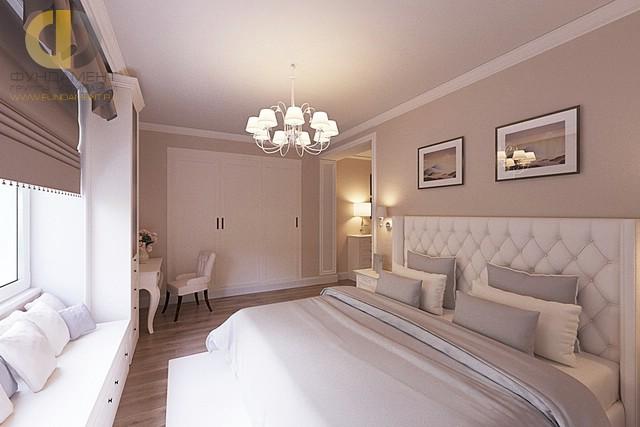 Дизайн мягкого подоконника в спальне