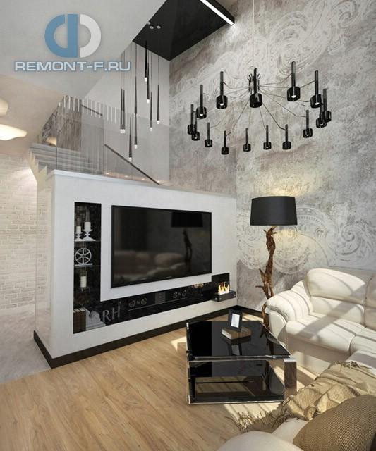 Современные идеи дизайна гостиной. Фото двухуровневой квартиры в современном стиле