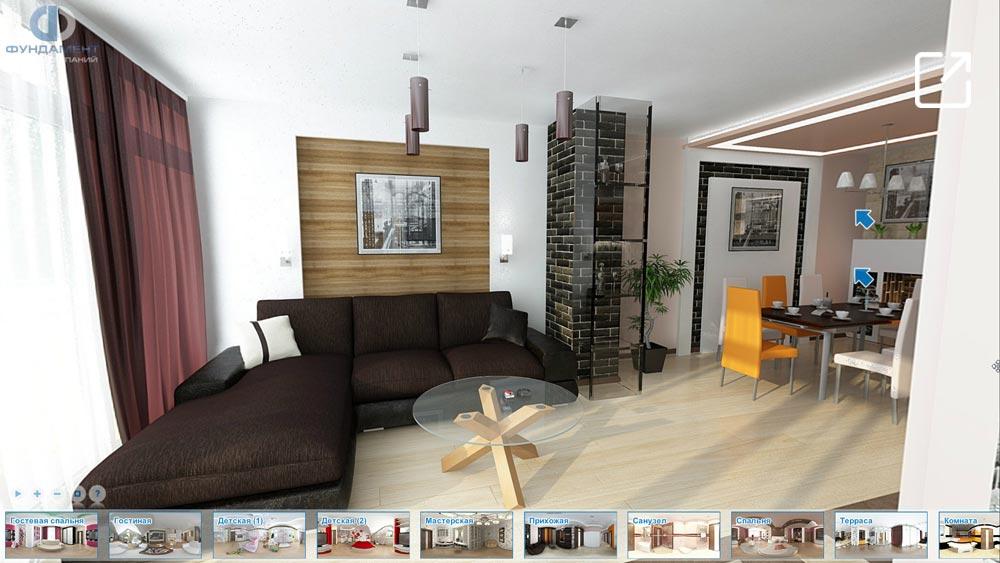 Дизайн интерьера дома с террасой в 3d – ул. Остафьевская