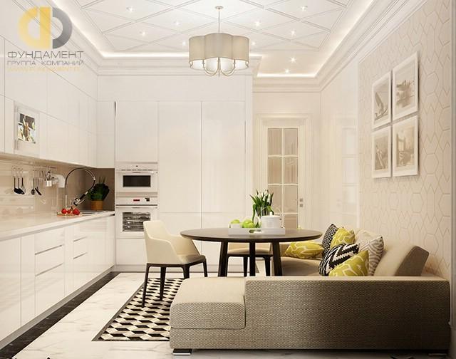 Кухня с угловым диваном в квартире