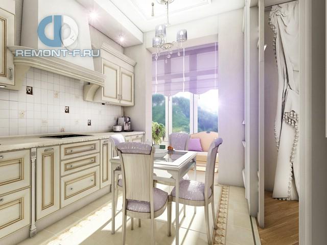 Дизайн кухни 9 кв. м в классическом стиле. Фото интерьера 2016