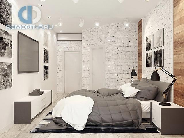 Красивые квартиры. Фото интерьера спальни в стиле лофт на Дмитрия Ульянова