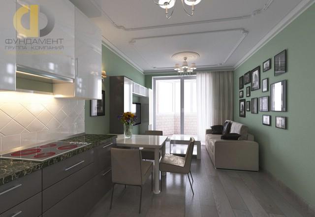 Дизайн кухни 12 кв. м с диваном. Фото интерьера 2016