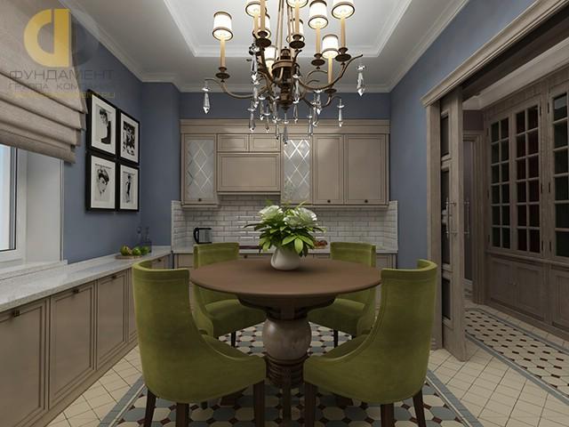 Дизайн кухни 10 кв. м с круглым столом. Фото новинок 2016