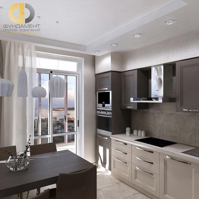 Дизайн кухни 12 кв. м с балконом. Фото интерьера 2016